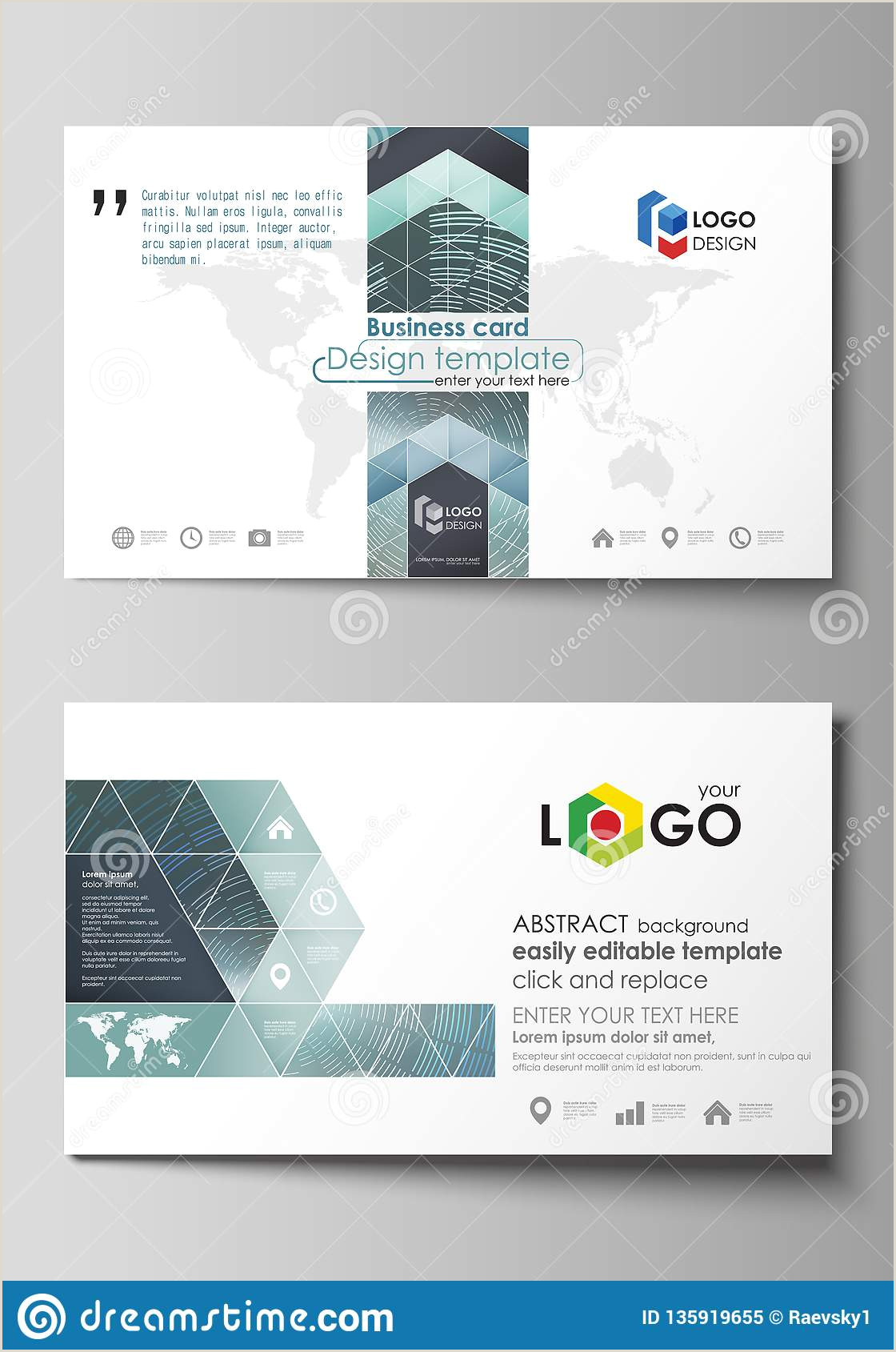 How To Make Bussiness Cards Business Card Templates Easy Editable Layout Abstract