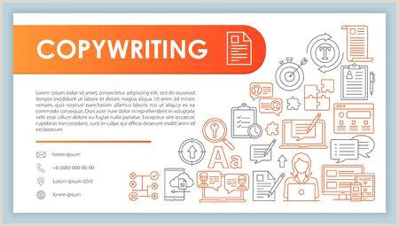 How To Make Bussiness Cards Copywriting Banner Business Card Vector Template Content Marketing