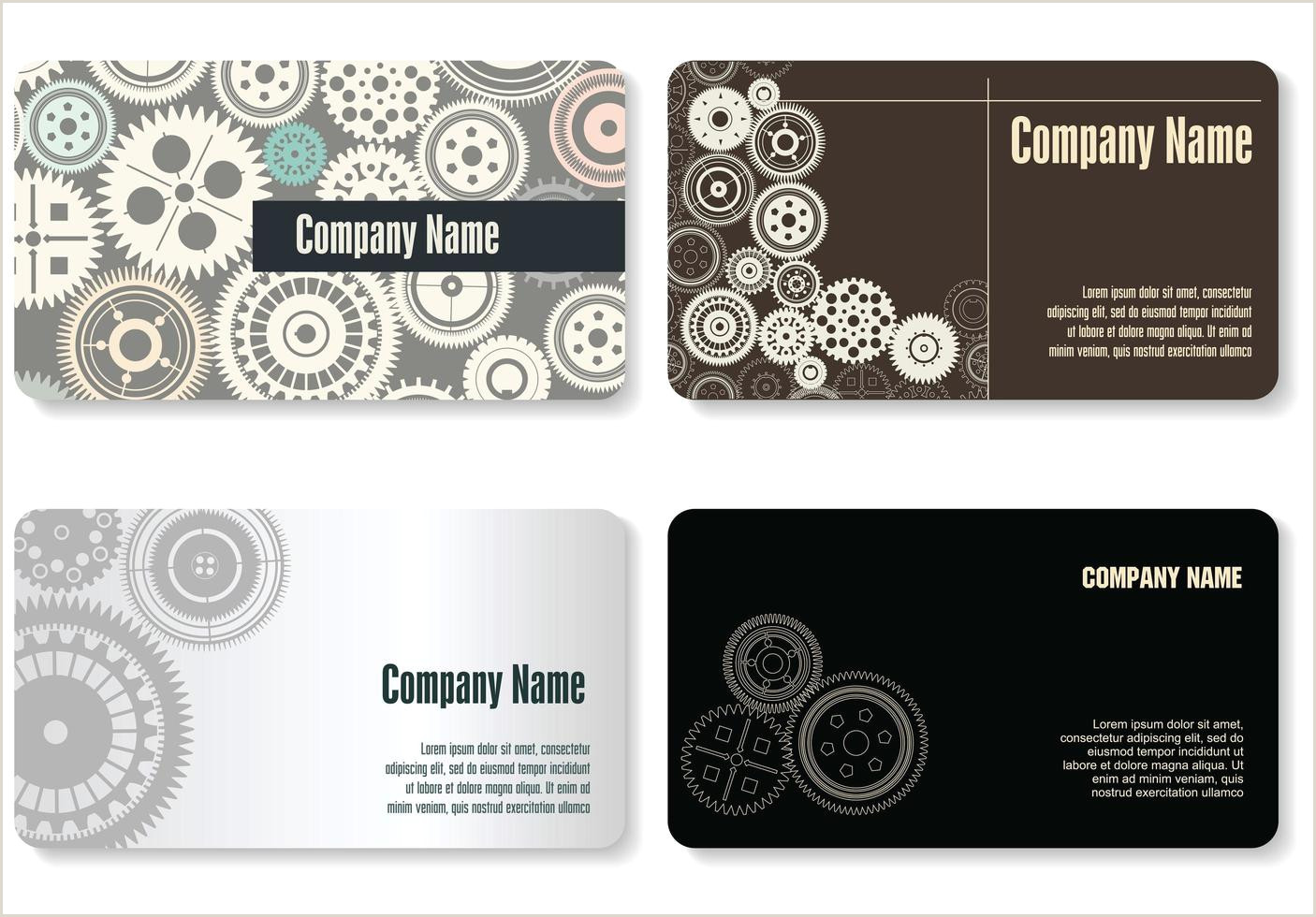 How To Make Bussiness Cards Modern Gear Business Card Set Download Free Vectors