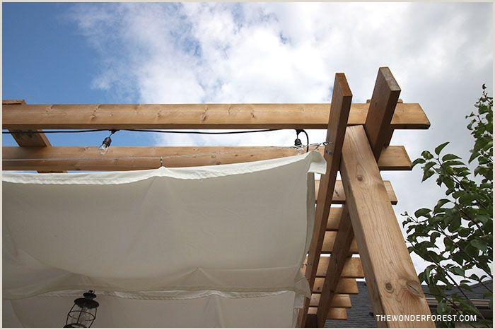 How To Make Retractable Diy Retractable Pergola Canopy Tutorial
