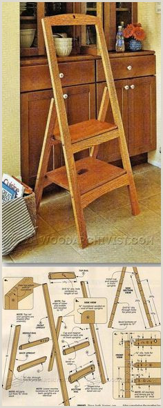 How To Make Retractable Folding Step Stool Plans Furniture Plans And Projects