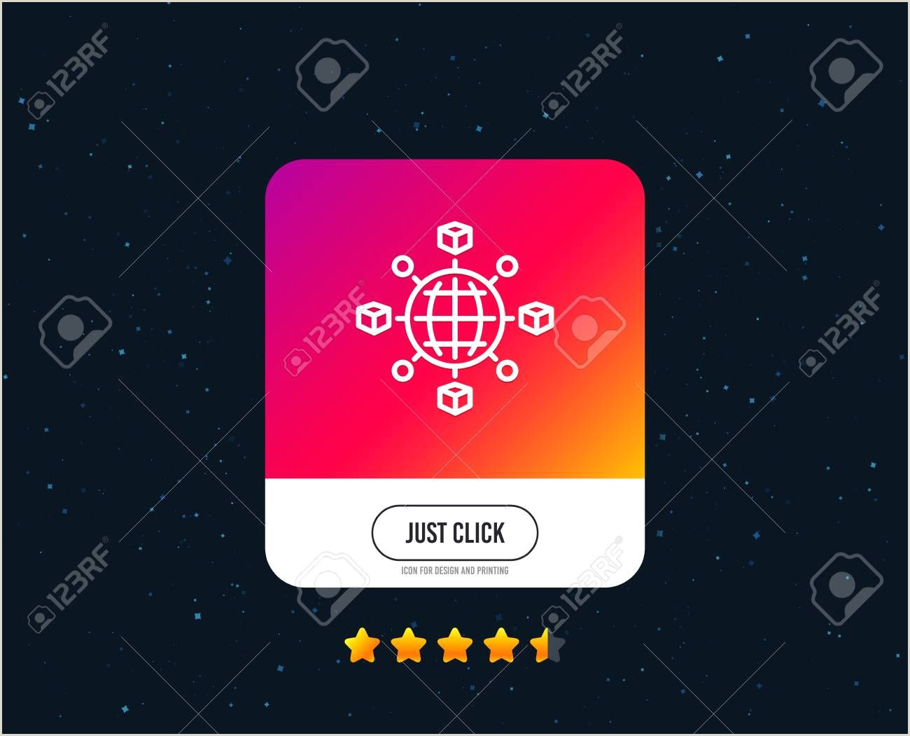 Icon For Business Cards Logistics Network Line Icon Parcel Tracking Sign Goods