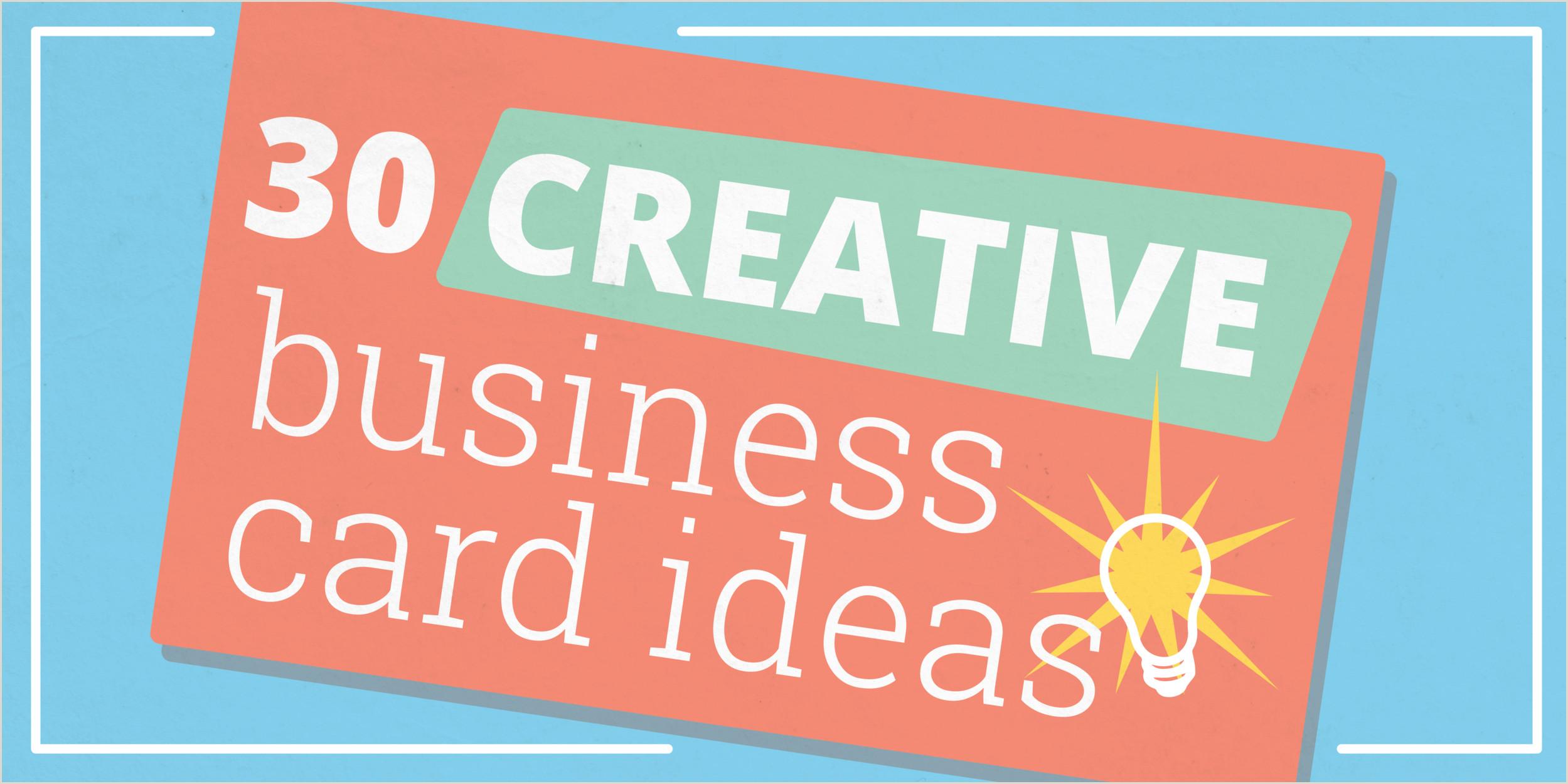 Ideas Business Cards 30 Creative Business Card Ideas & Designs