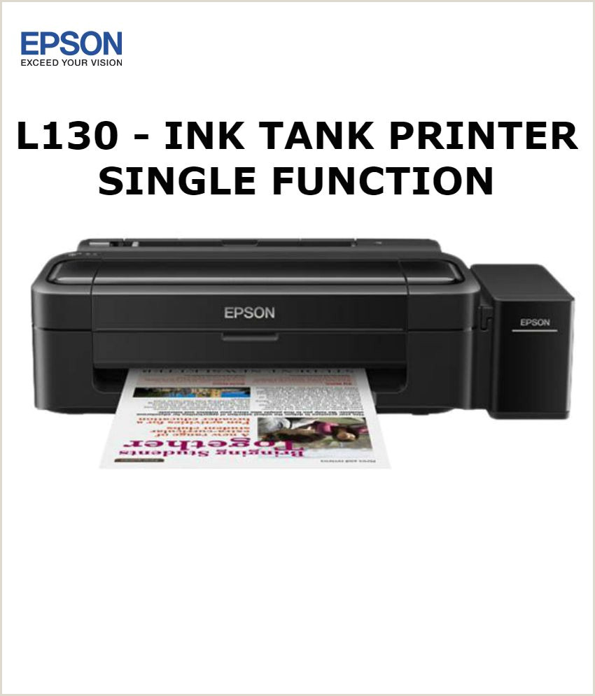 Identity Check Printers Reviews Epson L130 Single Function Color Ink Tank Printer Upgraded Version Of L110
