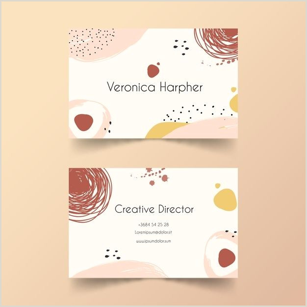 Illustration Business Cards Download Hand Painted Business Card Template For Free In