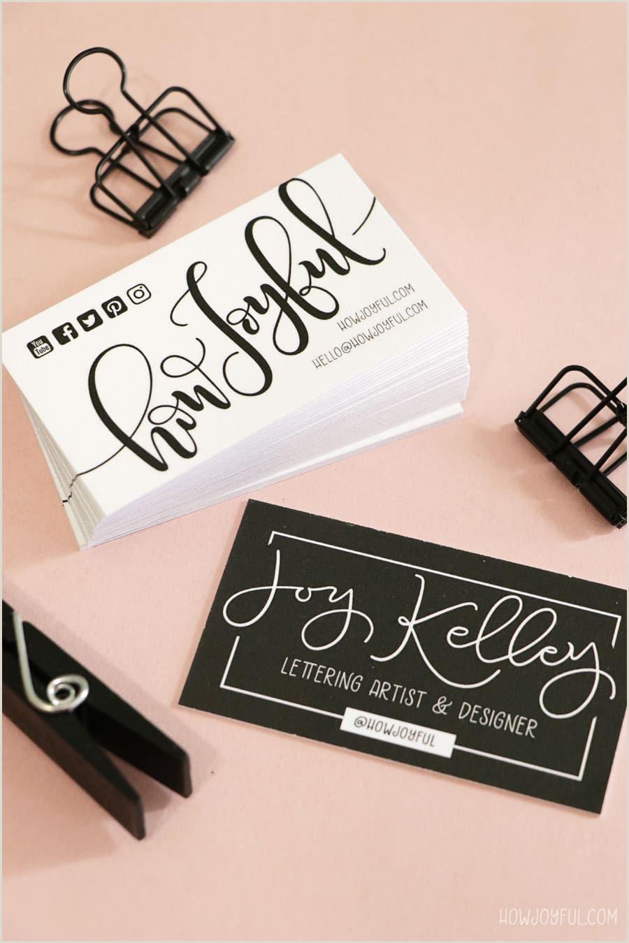 Illustrators Business Cards Diy Ombré Painted Edge Business Cards
