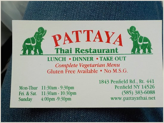 Images Of Business Cards Pattaya Thai Restaurant Business Card Picture Of Pattaya