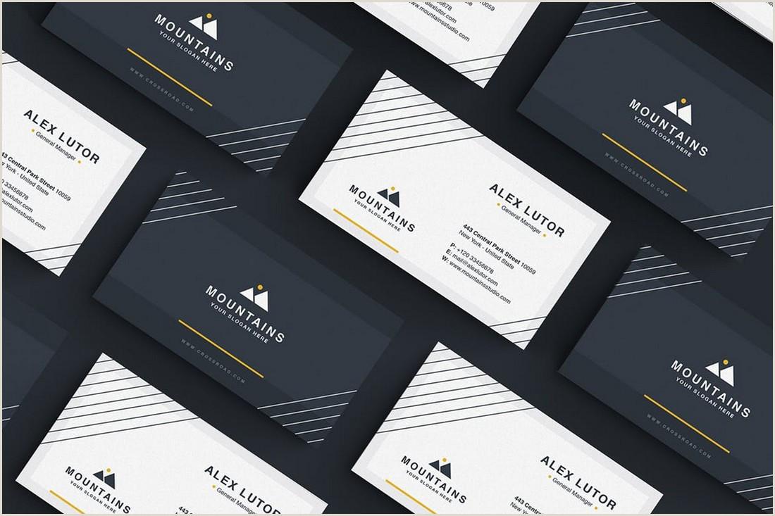 In Design Business Card Templates 20 Best Modern Business Card Templates 2020 Word Psd