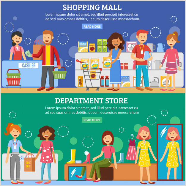 In Store Banners Free Vector