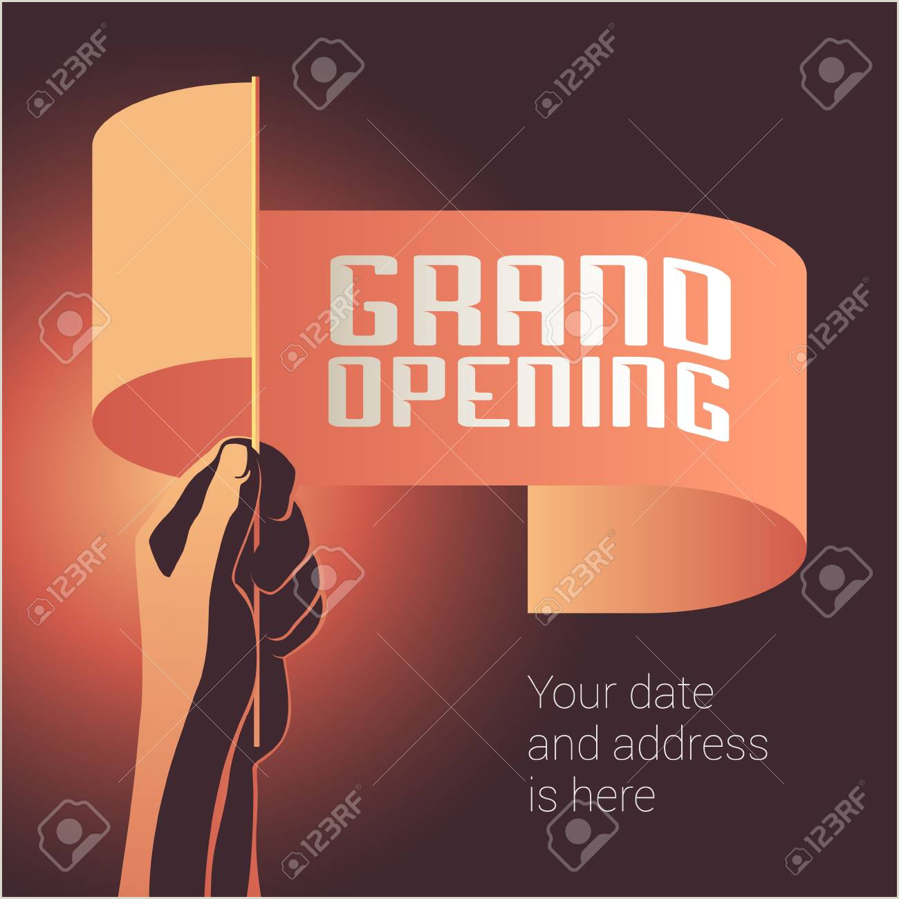 In Store Banners Grand Opening Vector Illustration Banner For New Store Shopping