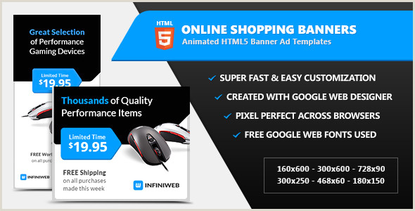 In Store Banners Line Shopping Store Banners HTML5 Ad Templates