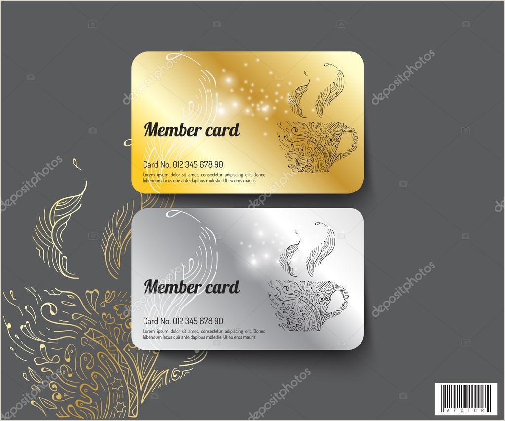 Info Cards Template Template Design Member Card Vector File