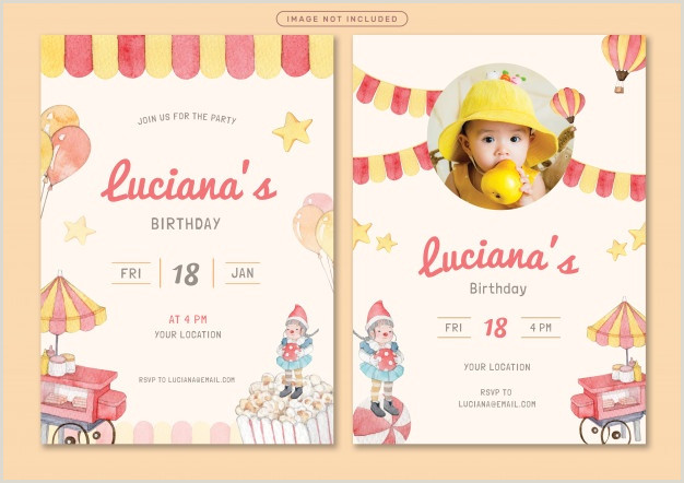 Information Card Templates Birthday Card