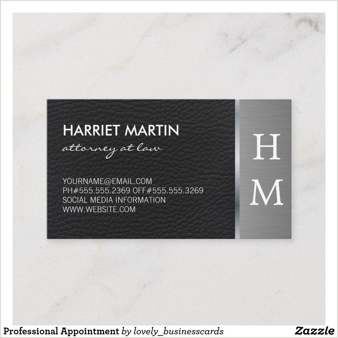 Information On A Business Card Professional Appointment Zazzle