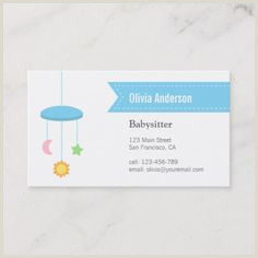 Information To Put On A Business Card 100 Best Babysitting Business Cards Images In 2020