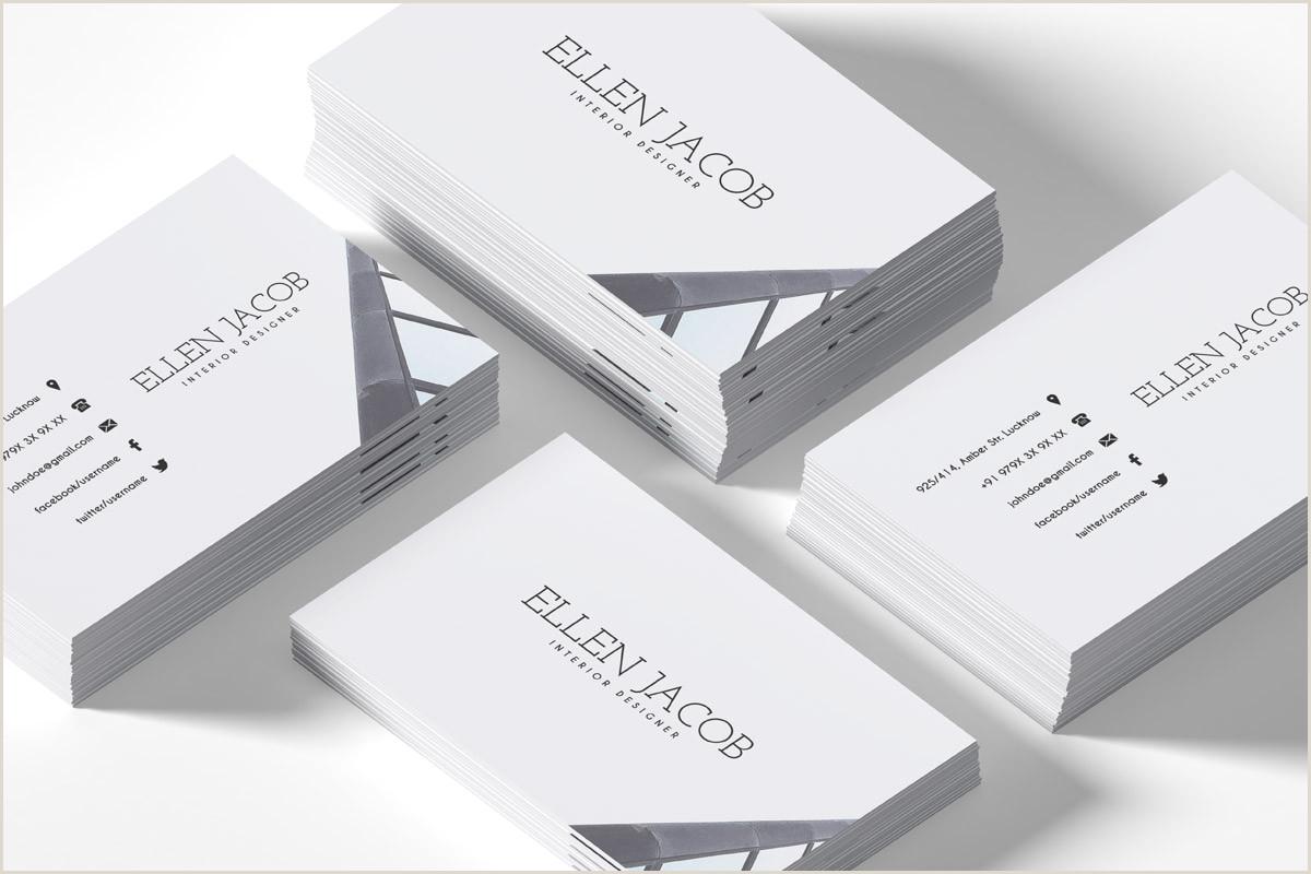 Interior Design Business Cards Ideas Free Interior Design Business Card Template Creativetacos
