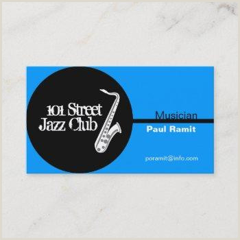 Jazz Musician Business Cards Unique Jazz Band Business Cards