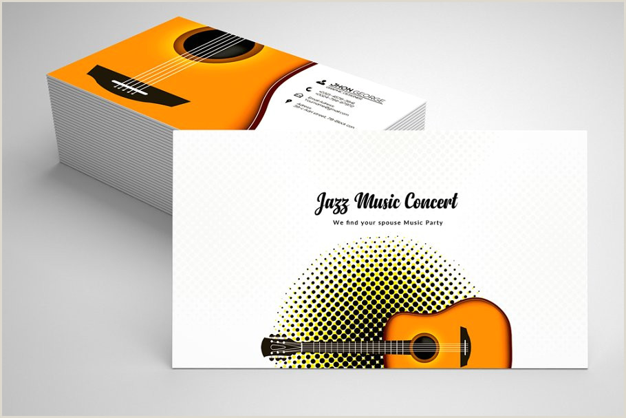 Jazz Musician Business Cards Unique Jazz Music Business Card Template 07