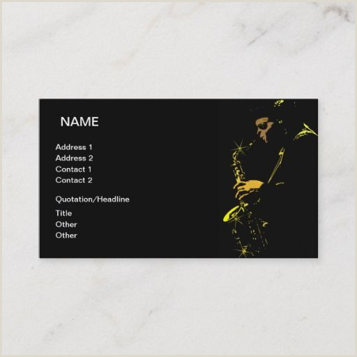 Jazz Musician Business Cards Unique Jazz Musician Business Card Zazzle
