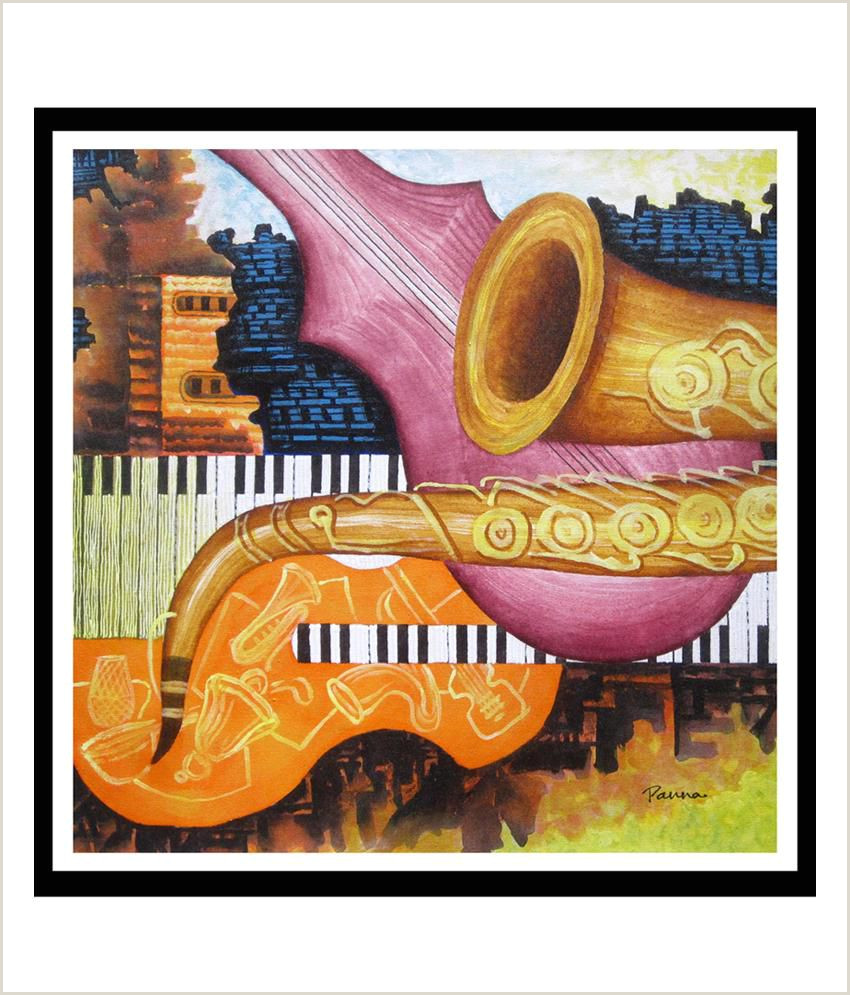 Jazz Musician Business Cards Unique Panna Paintings Contemporary Jazz Digital Art Print