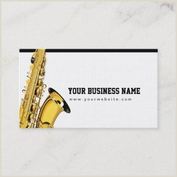 Jazz Saxophone Musician Business Cards Unique Jazz Band Business Cards