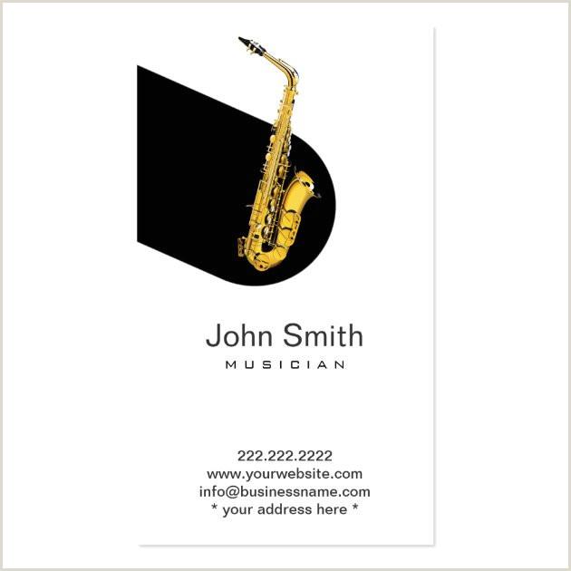 Jazz Saxophone Musician Business Cards Unique Modern Jazz Saxophone Musician Profile Card Business Cards