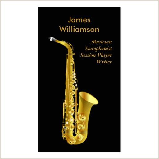 Jazz Saxophone Musician Business Cards Unique Sax Business Card Templates Page2