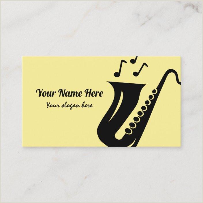 Jazz Saxophone Musician Business Cards Unique Saxophone Business Card Template For Musician