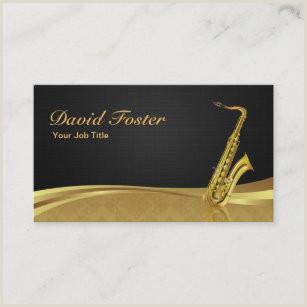 Jazz Saxophone Musician Business Cards Unique Saxophone Business Cards Business Card Printing