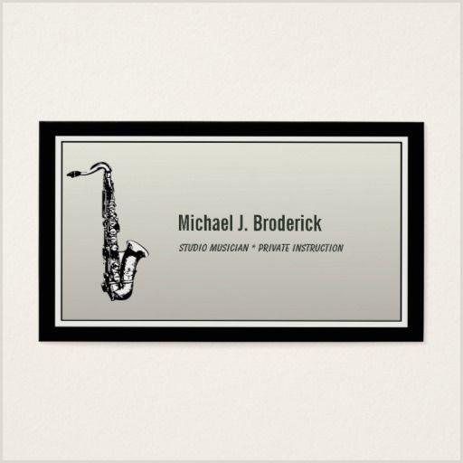 Jazz Saxophone Musician Business Cards Unique Saxophone Professional Musician Business Card