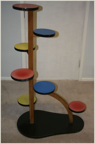 Large Picture Stands A Large Vintage 1950 S Plant Stand Oak And Formica Retro