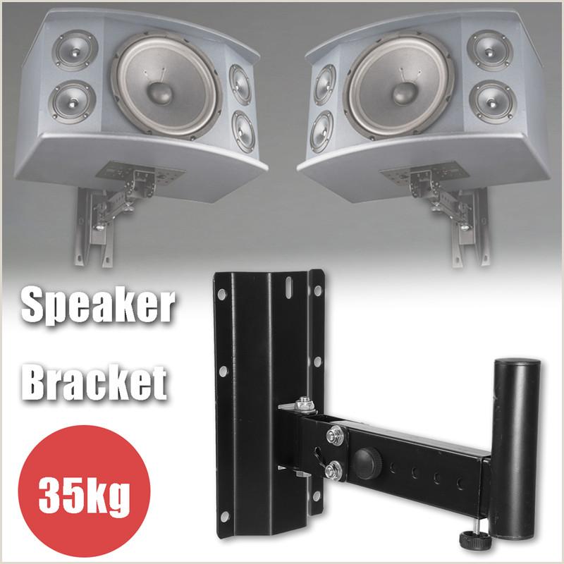 Large Picture Stands Details About Heavy Duty Steel Wall Mount Adjustable Speaker Bracket Stand Hanger Black