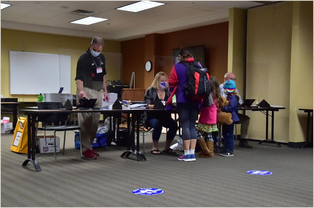 Large Picture Stands Turnout For Early Voting In Warren Washington