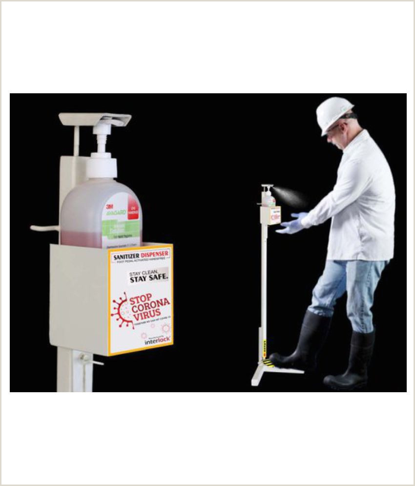 Large Picture Stands Urban Pedal Operated Sanitizing Dispensing Stand