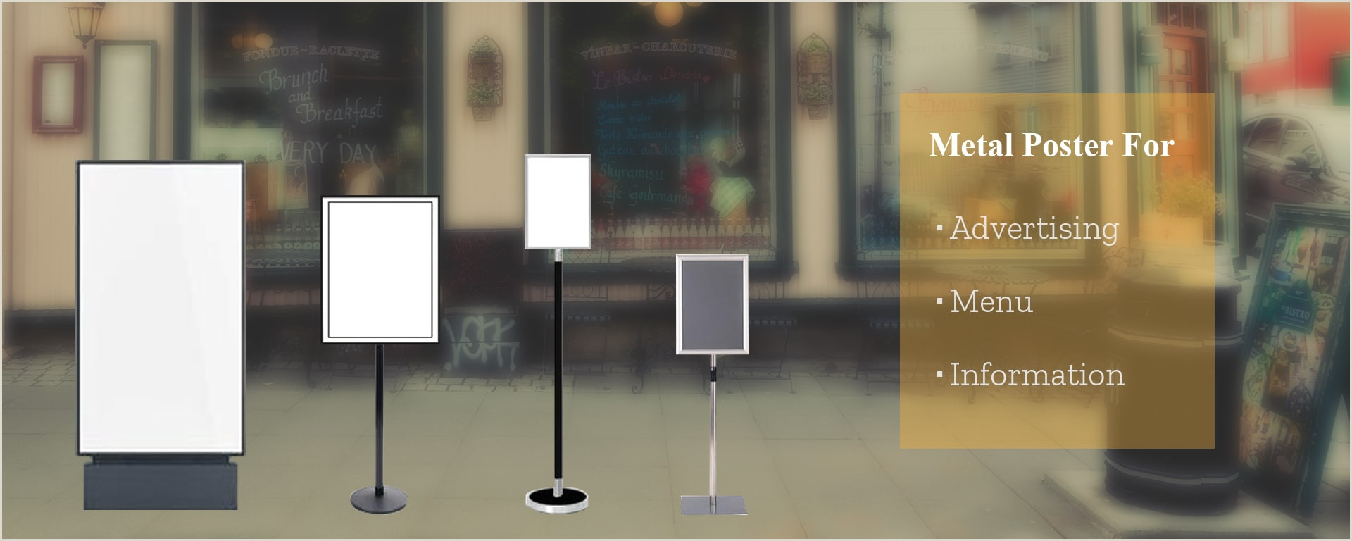 Large Poster Stand Metal Poster Stands