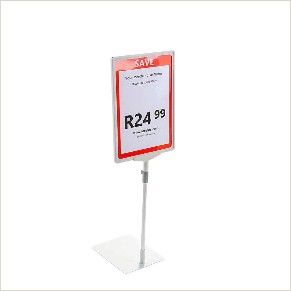 Large Poster Stand Us $4 94 Off A4 Frame White Pop Poster Price Label Holder Promotion Poster Floor Stand Table Advertising Rack Desk Sign Display Stand Frame