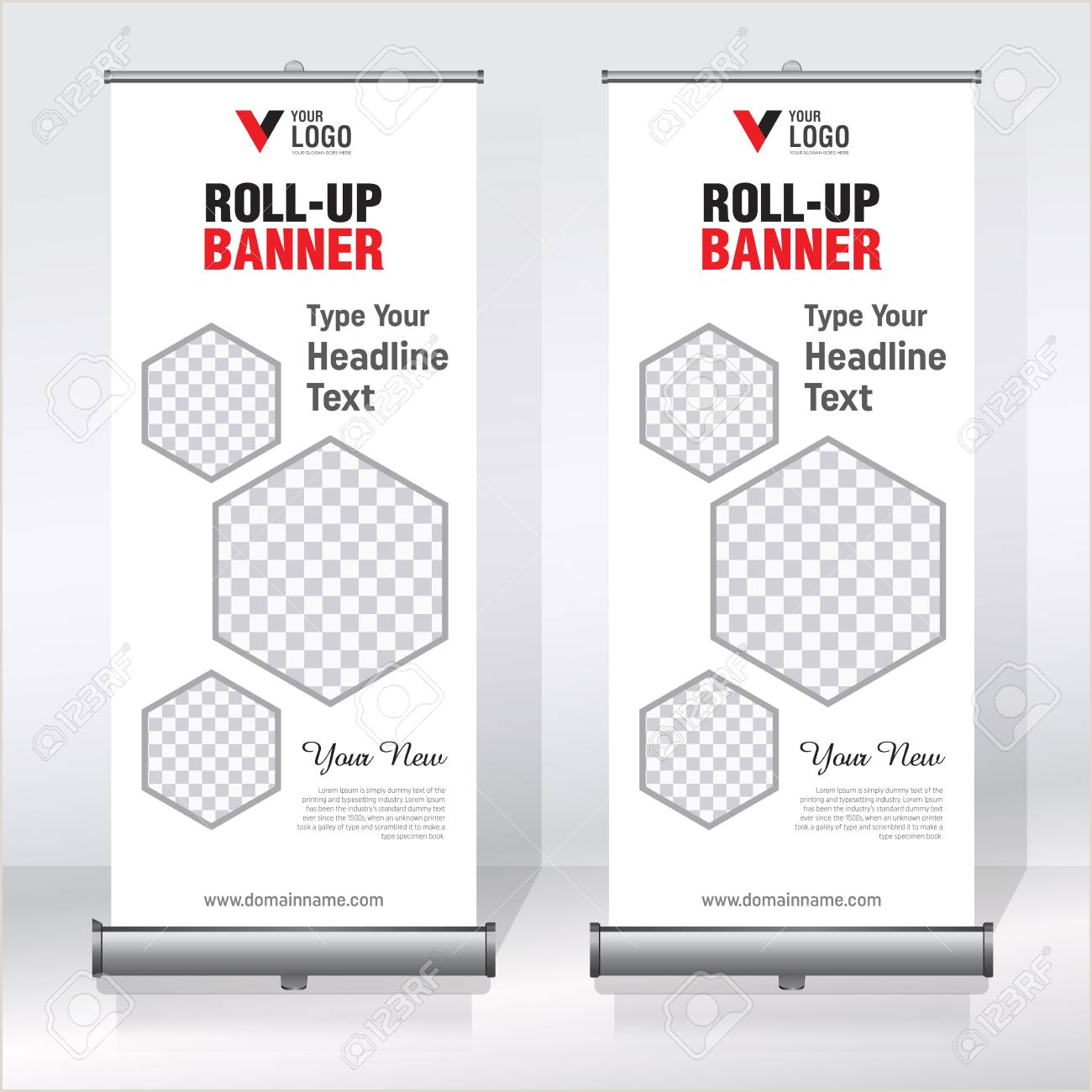 Large Pull Up Banners Roll Up Banner Design Template Abstract Background Pull Up