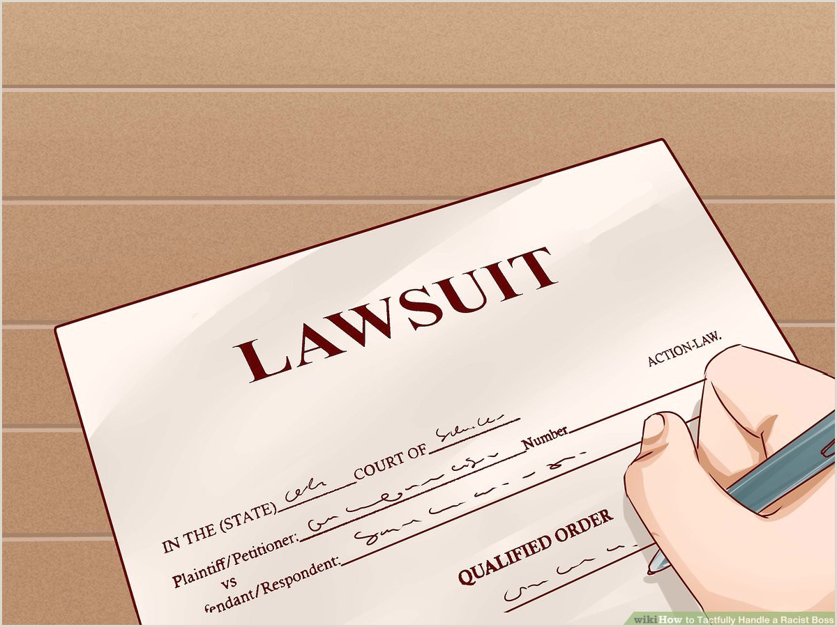 Legal Business Card Design Ideas 4 Ways To Tactfully Handle A Racist Boss Wikihow