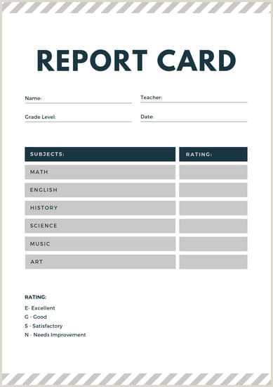 Line Card Examples Homeschool Report Card Template 8