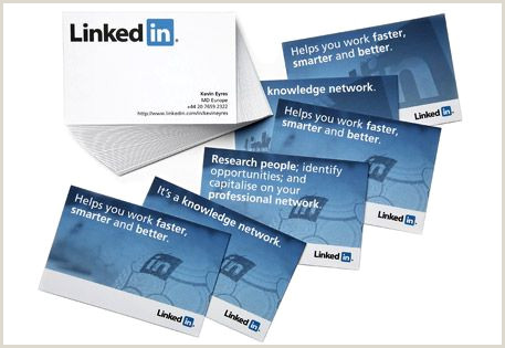 Linkedin On Business Card Examples Get The Linkedin Look