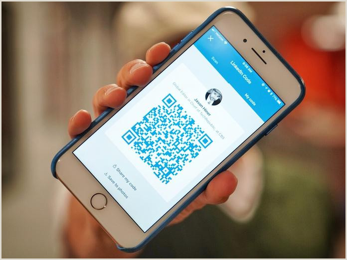 Linkedin On Business Card Examples How To Scan Linkedin Qr Codes Instead Of Trading Business