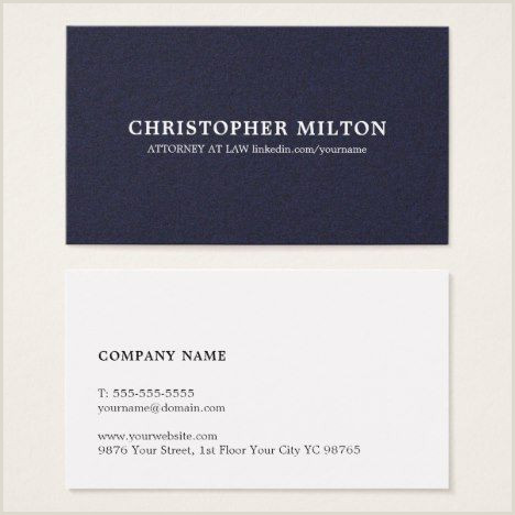 Linkedin On Business Card Examples Minimalist Elegant Texture Blue Consultant Business Card