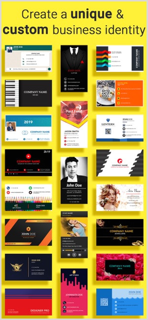 Logo Design Business Cards Business Card Maker Creator On The App Store