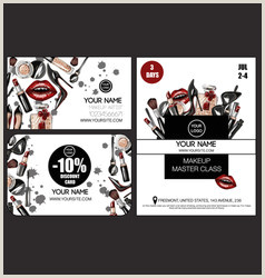 Make Up Banners Makeup Banner Vector Over 25 000