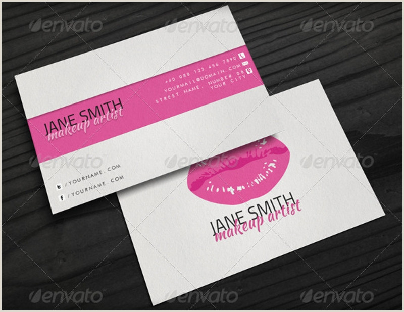 Makeup Artist Business Cards Ideas Free 27 Makeup Artist Business Card Designs & Examples In