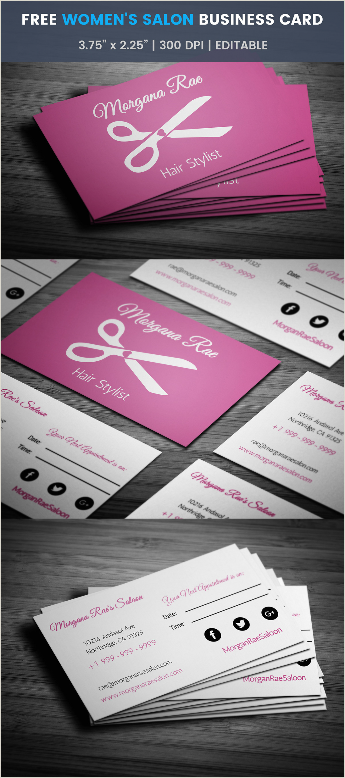 Makeup Artist Business Cards Ideas Hairdresser Business Card Templates Free