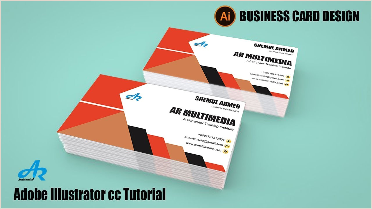 Making A Business Card In Illustrator How To Create A Business Card Design In Illustrator Cc 2018 Illustrator Cc 2017 Business Card
