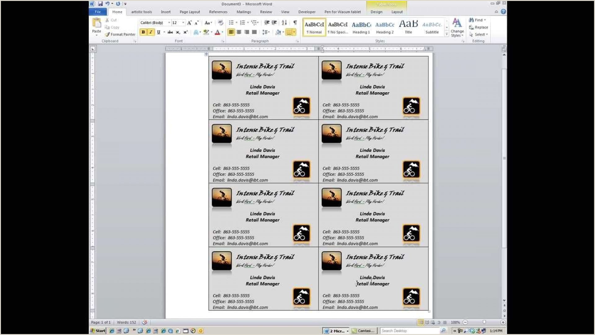 Making A Business Card In Word Business Card Word Template Addictionary