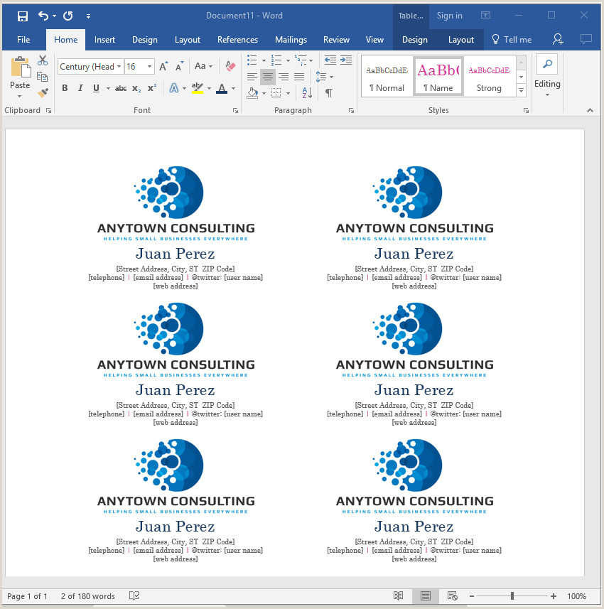 Making A Business Card In Word How To Make Your Own Business Cards In Word