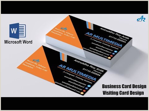 Making A Business Card In Word Ms Word Tutorial How To Create Professional Business Card